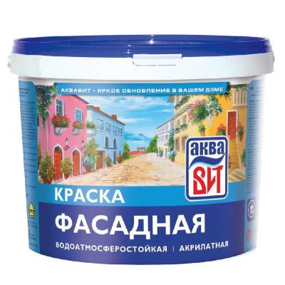 Краска ВАК-25 АкваВИТ фасадная с/белая 2,5кг.